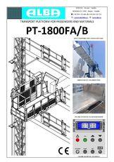 جديد منصة تنظيف واجهات المباني PT ALBA 1800FA/B